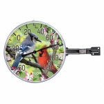 Taylor Precision Products 90178 6-Inch Diameter Outdoor Thermometer With Birds Inset