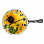 Taylor Precision Products 90176 6-Inch Sunflower Outdoor Thermometer