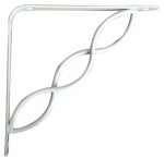 Knape & Vogt Mfg 200C WH 6 6-Inch White Decorative Steel Shelf Bracket