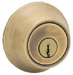 Kwikset 665 5 CP CODE RCAL RCS K6 Security Antique Brass Double Cylinder Deadbolt