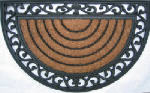Palm Fibre Private Limited PLM 11219 Doormat, Half-Round, 18 x 30-In.