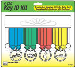 Hy-Ko Prod KC143-4 Key Tag Rack, Includes 4 Key Tags