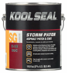 Kst Coating KS0081100-16 Storm Patch Roof Patch/Coat, Asphalt Black, Gal.