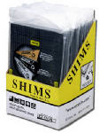 Ez-Shim ETC-1A Shim, Heavy-Duty Black Plastic, 20-Pk.