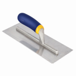 Roberts/Qep 49917Q 11 x 4-1/2-Inch Soft-Grip V-Notch Trowel