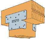 Simpson Strong Tie AC6-WEST Ac6 6x6 Twin Post Cap - 20 Pack