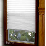 Redishade 3684227 Original Pleated Window Shade, Light Filtering, White Fabric, 48 x 72-In.