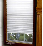 Redishade 3122200 Original Pleated Window Shade, Light Filtering, White Paper, 36 x 72-In.