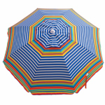Rio Brands UB71-TS Beach Umbrella with Tilt, Sun-Blocking, Assorted, 6-Ft.