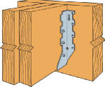 Simpson Strong Tie LUS210-2 Joist Hanger, Double Shear, 2 x 10-In.
