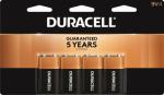 Duracell Distributing Nc MN16B4DW Alkaline Batteries, 9-Volt, 4-Pk.