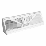 American Metal Products 3018W18 Baseboard Diffuser, Sunburst, White Steel, 18-In.