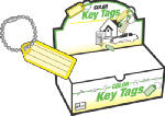 Hy-Ko Prod KB140-100 Identification Tag with Ball Chain, Assorted, 100-Pk.