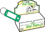 Hy-Ko Prod KB138-200 Key I.D. Tag, Split Ring, 200-Pk.