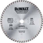 Dewalt Accessories DW4712 High-Performance Masonry Blade, 7-In.