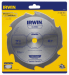 Irwin Industrial Tool 15702ZR Carbide-Tipped Circular Saw Blade, Fiber Cement, 7.25-In., 6-Teeth