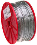 Apex Tools Group 7000227 1/16 x 500-Ft. Galvanized Cable, 7x7, 1/16-In. x 500-Ft.