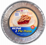 Ez Foil/Reynolds 90810 EZ Foil Pie Pan Set, Extra Large, 9-11/16 x 1-1/3-In., 2-Pk.