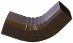 Genova Products AB201A Duraspout Gutter Front Elbow, A-Style, Brown Vinyl, 2 x 3-In.