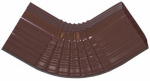 Genova Products AB201B Duraspout Gutter Side Elbow, B-Style, Brown Vinyl, 2 x 3-In.