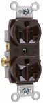 Pass & Seymour CR20CC12 Duplex Outlet, Heavy-Duty, Brown, 125-Volt, 20-Amp