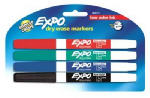 Sanford 86674K 4-Pack Expo Low-Odor Fine-Point Dry Erase Markers