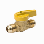 B&K 116-502 Gas Ball Valve, Brass, Flare x Flare, Brass, 3/8 x 3/8-In.