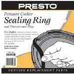 National Presto Ind 09936 Pressure Cooker Sealing Ring With Automatic Air Vent