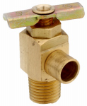 Anderson Metals 59430-02 1/8-In. Male Pipe Thread 90 Degree Brass Drain