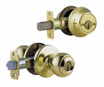 Kwikset 690P 3 CP CODE  K6 Security Brass Polo Entry Lockset And Deadbolt Combo Pack