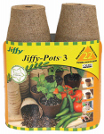 "Plantation Products JP322 22PK 3"" Round Peat Pot"