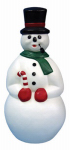 General Foam Plastics C5290TS Indoor or Outdoor Christmas Decoration, Lighted Snowman, 34-In.
