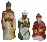 General Foam Plastics C3690TS Christmas Nativity 3 Wisemen Set, Pre-Lit, 36-In.