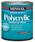 Minwax The 63333 1-Quart Polycrylic Satin Clear Acrylic/Urethane Blend Topcoat