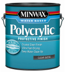 Minwax The 13333 1-Gallon Polycrylic Satin Clear Acrylic/Urethane Blend Topcoat