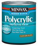 Minwax The 64444 1-Quart Polycrylic Semi-Gloss Clear Acrylic/Urethane Blend Topcoat