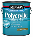 Minwax The 14444 1-Gallon Polycrylic Semi-Gloss Clear Acrylic/Urethane Blend Topcoat