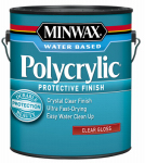 Minwax The 15555 1-Gallon Polycrylic Gloss Clear Acrylic/Urethane Blend Topcoat