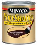Minwax The 61380 1-Qt. Bombay Mahogany Satin Polyshades Wood Stain