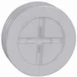 Hubbell Electrical Products PT-50-AL-W White Weatherproof 1/2-Inch Closure Plug, 3-Pack