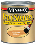 Minwax The 213704444 1/2-Pt. Satin Classic Oak Polyshades Wood Finish