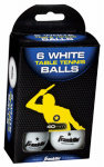 Franklin Sports Industry 2023 Table Tennis Balls, 1-Star, White, 6-Pk.