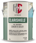 H & C Concrete Stain 50.120234 Silicone Acrylic Concrete Sealer, Clear High-Gloss, 1-Gallon