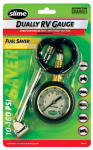 Itw Global Brands 2020-A RV Gauge, Dual Head, 10-160 PSI