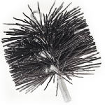 Imperial Mfg Group Usa BR0181 6-Inch Black Polypropylene Chimney Brush