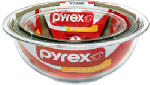 World Kitchen 6001001 Pyrex 3-Piece Mixing Bowl Set