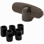 "Prime Line Products 173234-B Casement Window ""T"" Crank Handles, Die-Cast Bronze, 2-Pk."