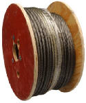 Apex Tools Group 7008327 Fiber Core Steel Wire Rope, 3/8-In. x 250-Ft.
