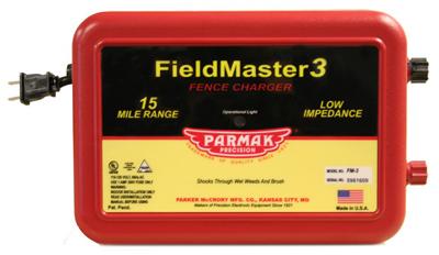 Parmak FM3 Fieldmaster 3 Electric Fence Charger, 15-Mile, Lo