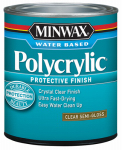 Minwax The 244444444 Polycrylic Protective Finish, Semi-Gloss Clear, .5-Pint